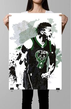 Fan art poster, Giannis Antetokounmpo, Milwaukee Bucks, wall art poster, Basketball poster, Sports poster, Sports art, Abstract Sports,