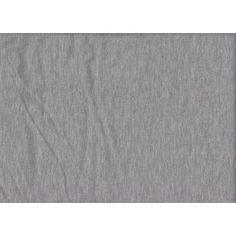 Jersey - Jersey Jerseystoff uni hellgrau melange - ein Designerstück von Stoffe-guenstig-kaufen bei DaWanda