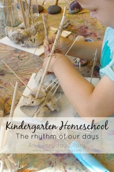 Kindergarten Homeschool: A glimpse inside a Reggio-inspired Kindergarten homeschool. See the structure of their days and the types of activities they do. No desk. No worksheets. (from An Everyday Story)
