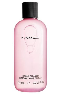 MAC Brush Cleaner -- I've tried everything. This is the best, even if you don't use MAC's other products.