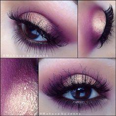 Cranberry eyeshadow look