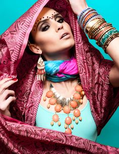 Indian Inspired Editorial by Angelina Scantlebury, via Behance India Fashion, Royal Fashion, Fashion Shoot, Editorial Fashion, Indian Inspired Fashion, Indian American Weddings, Traditional Indian Jewellery, Indian Goddess, Indian Makeup