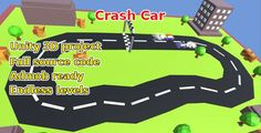 Crash Car, Unity game source code - Price $12