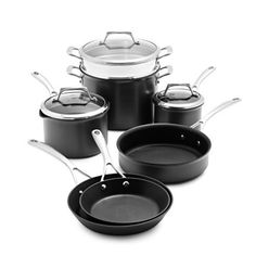 Sur La Table Dishwasher-Safe Hard-Anodized Nonstick 10-Piece Set 83590-C ** See this awesome image  : Cookware Sets