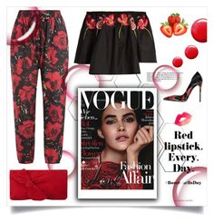 """""""Red Spring!"""" by allaboutno ❤ liked on Polyvore featuring Anna Sui, Dolce&Gabbana, L.K.Bennett, Temperley London and Topshop"""