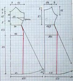 Dos diferentes e igualmente preciosos modelos de vestido, son los que podrás confeccionarte con estos patrones básicos de vestidos sin mangas para dama que te traemos para las manualidades en costura del día, moldes totalmente fáciles de hacer en casa por principiantes en la costura debido a que cada una de sus medidas se muestra …