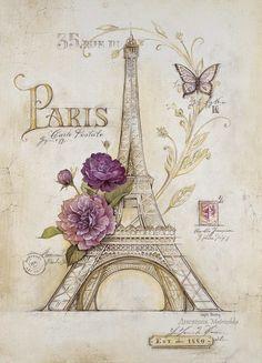 *TOPRAK ve AHŞAP*: dekupaj resimleri-Paris temalı resimler