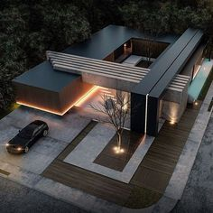 House designs exterior - 49 most popular modern dream house exterior design ideas 8 – House designs exterior Villa Design, Modern House Design, Modern Exterior, Exterior Design, Contemporary Architecture, Interior Architecture, Houses Architecture, Amazing Architecture, Contemporary Design