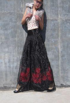 Love this long skirt!
