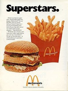 "Vintage McDonald's Magazine Ad- ""Superstars."""