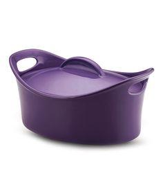 Purple 4.25-Qt. Round Baking Dish