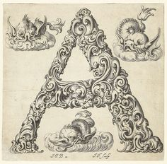 These gorgeously ornate letterforms were designed in the mid-1600s by the Polish goldsmith, Jan Christian Bierpfaff in the 1600's. Bierpfaff's organic alphabet (dedicated to the patriarch of the Mackensen clan) blends the newly discovered shell patterns with grotesque botanical styling to produce extraordinary, abstracted figures in which the ornament itself comes to life.