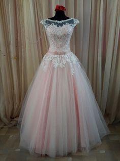 Свадебное платье А-силуэт (принцесса) пышное со шлейфом длинное кружевное 2016 №594 | NevestaM.by