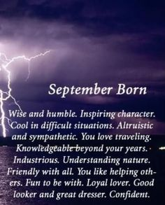 Born in September