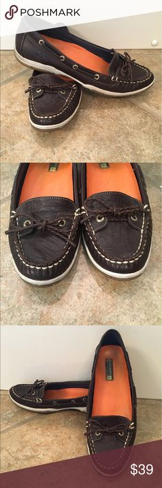 Leather SPERRY's!! Leather 7. 1/2 , Sperry Shoes