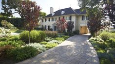 Mediterranean Front Yard and Paver Driveway
