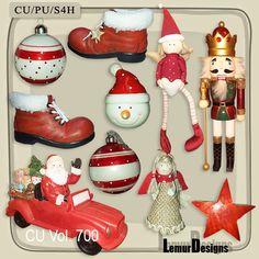 Christmas 700 Elements CU/PU Diy Craft Projects, Diy Crafts, Xmas, Christmas Ornaments, Lemur, Digital Scrapbooking, Free Design, Craft Supplies, Commercial