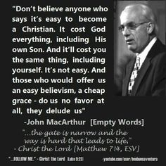 John F. MacArthur, Jr. (born June 19, 1939) is a pastor and author known for his…