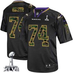 ... NFLShop.com Mens Nike Baltimore Ravens 74 Michael Oher Elite Black Camo  Fashion Super Bowl XLVII NFL ... b46ae39e9