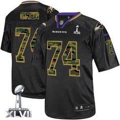 Nike Baltimore Ravens #74 Michael Oher Black Elite Jersey | NFL ...
