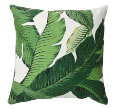 One of our favorite prints, the Banana Palm print is reminiscent of the iconic Beverly Hills Hotel. Use this pillow in any room to add a touch of bohemian chic. #landgwishlist