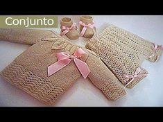 Conjunto para bebe 0-3 meses paso a paso (Pantalon) tercera parte - YouTube