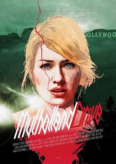 We love this artist interpretation of the Mulholland Drive poster. #DavidLynch #Poster #Movie