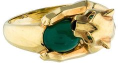Cartier Panthere Chrysoprase Ring