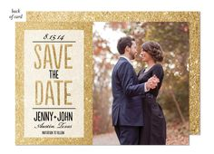 Save the Date announcements like this Glitter Ombre Wedding Suite Save the Date from Bonnie Marcus are available at Polka Dot Design to help with all your wedding shower ideas. All photo save the dates include a free proof. Glitter Invitations, Holiday Party Invitations, Bridal Shower Invitations, Wedding Stationery, The Bonnie, Wedding Announcements, Response Cards, Wedding Suits, Save The Date