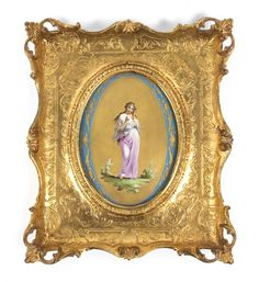 A Sevres Style Porcelain Plaque, Height of plaque 11 x : Lot 686