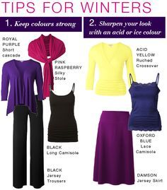 Tips for Winters. - images -capsule wardrobes using colors for winter coloring - Google Search