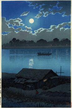 Full Moon at Arakawa River, by Kawase Hasui, 1929