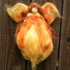 Wool Angel - Autumn Garden Fairy- Needle felted wool fairy Waldorf inspired by Rebecca Varon