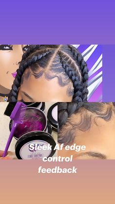 Two Braids, Braids For Kids, Long Braids, Baddie Hairstyles, Black Girls Hairstyles, Braided Hairstyles, Beauty Forever, Magic Hair, Hair Laid