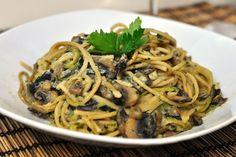 Zucchini-Champignon-Spaghetti