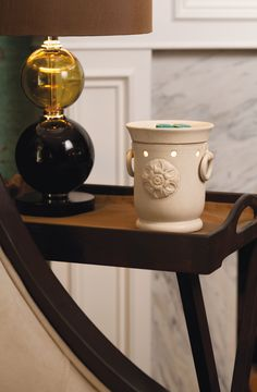 """Scentsy  --  """"CLAREMONT""""  https://db.scentsy.us/Scentsy/Buy/ProductDetails/DSW-CLAR $30.00  Stamped Flourish, Ringed Handles, Sandstone Finish, Elegant, Simplicity"""