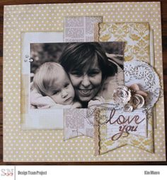Love You scrapbook layout by Kim for scrapbooknerd.com My Scrapbook, Scrapbook Layouts, Scrapbooking, How To Introduce Yourself, Nerd, Love You, Paper Crafts, Frame, Creative