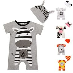 Baby Boy Clothes 2017 Summer Baby Girls Clothing Sets Cotton Baby Rompers Newbor #bebe