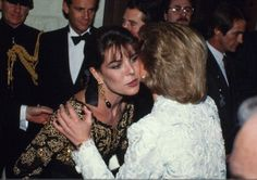 November 9 1988 Charles & Diana attend a banquet at the Chateau de Chambord, Blois in Loire Valley