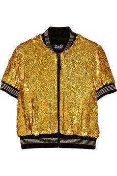 D&G ultra glam gold jacket