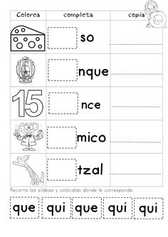Spanish Worksheets, Spanish Teaching Resources, Science Worksheets, Pre K Activities, Learning Activities, Kids Learning, Spanish Lessons For Kids, Educational Psychology, Kids Class