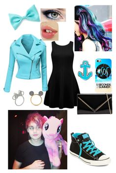 """""""Fancy dinner with Mikey..."""" by searra-carriker ❤ liked on Polyvore featuring Forever New, Doublju, Converse, ALDO, Forever 21, Sperry and Disney"""