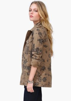 Floral Military Jacket