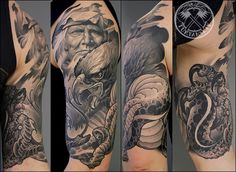 Eagle And Snake Fight Tattoo photo - 1