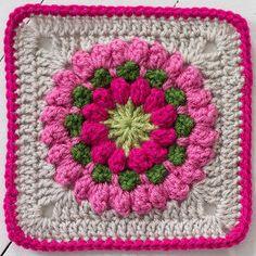 Popcorn Stitch Bloom Square
