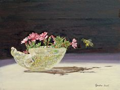 """""""A Little Phlox,"""" Jonathan Small, oil on canvas mounted on panel, 8 x 10"""", private collection."""