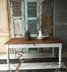Maintenant vendu - table Vintage Français ferme