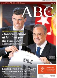 Los Titulares y Portadas de Noticias Destacadas Españolas del 3 de Septiembre de 2013 del Diario ABC ¿Que le pareció esta Portada de este Diario Español?