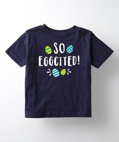 kids so eggcited tee - Easter