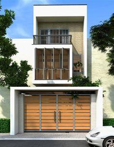 Mẫu thiết kế nhà phố đẹp 2 tầng đơn giản ở Khánh Hòa